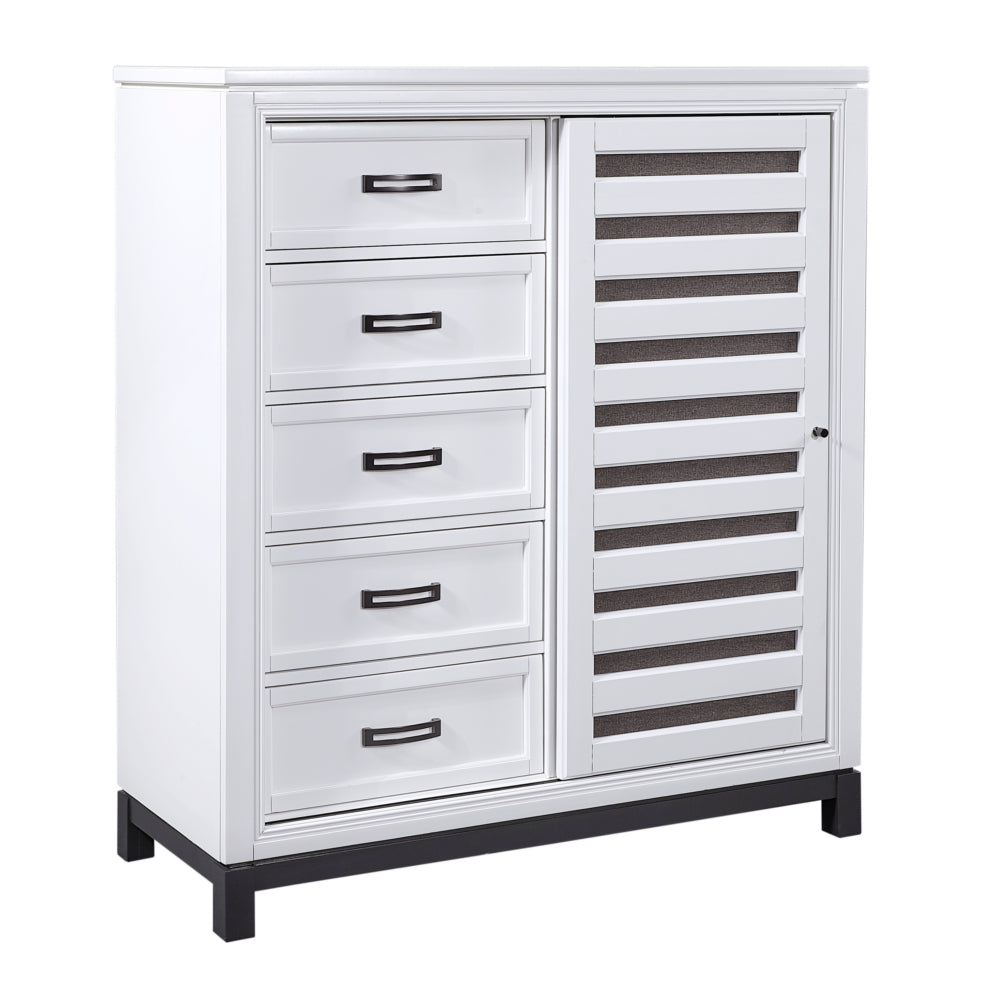 Hyde Park Sliding Door Chest White