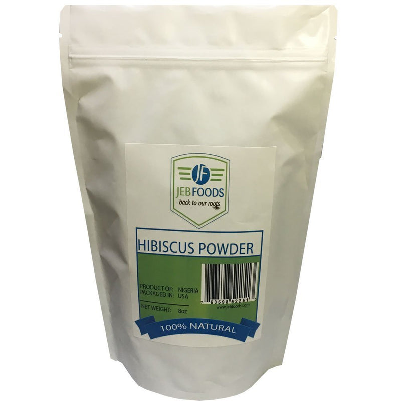 JEB FOODS Africa Hibiscus Flower Powder Natural, Non, GMO and Gluten, Free 8 oz.
