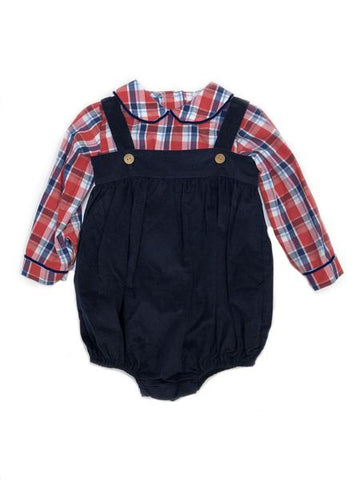 Saratoga Bubble Set Frierson Plaid Little English