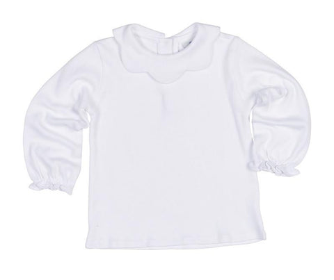 Basic Ruffle Neck L/S Tee Child Florence Eiseman