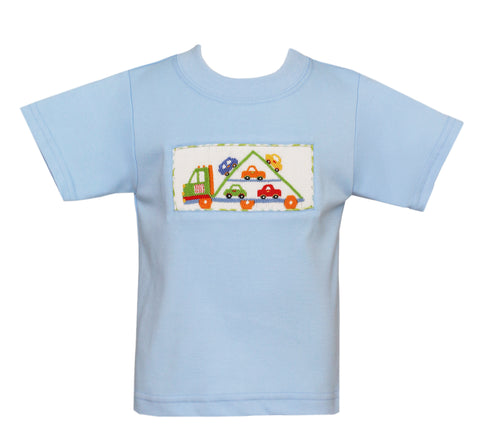Car Carrier Smocked Tee Claire & Charlie