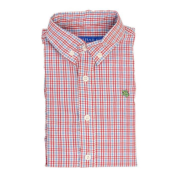 Button Down Poppy Plaid Shirt The Bailey Boys