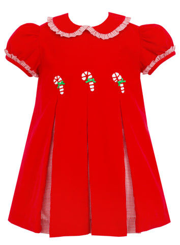 Candy Canes Pleat Dress Claire & Charlie