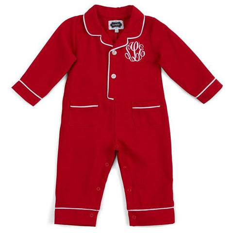 Monogram Christmas PJ One Piece Mud Pie
