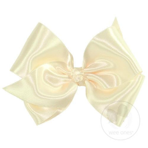 French Satin King Bow Pinch Clip Wee Ones