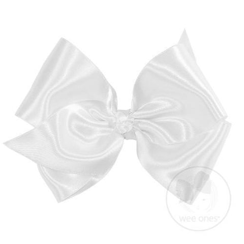Barrette French Satin King Bow Wee Ones