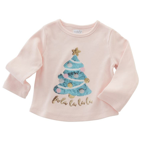 Christmas Tree Sparkle Tee by Mud Pie