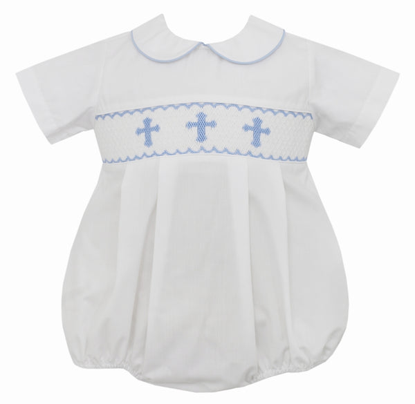 Blue Crosses Boy Bubble Petit Bebe