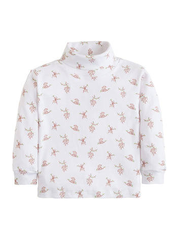 Pink Monkey Print Turtleneck Little English