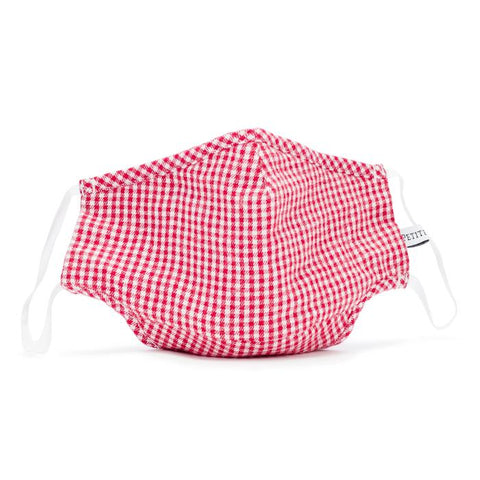 Red Mini Gingham Child Face Mask Petite Plume