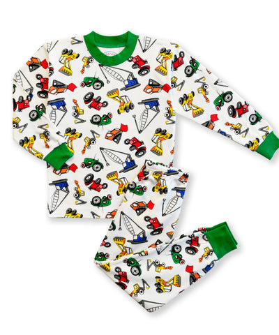 Builder Vehicles 2pc Pjs Sara's Prints