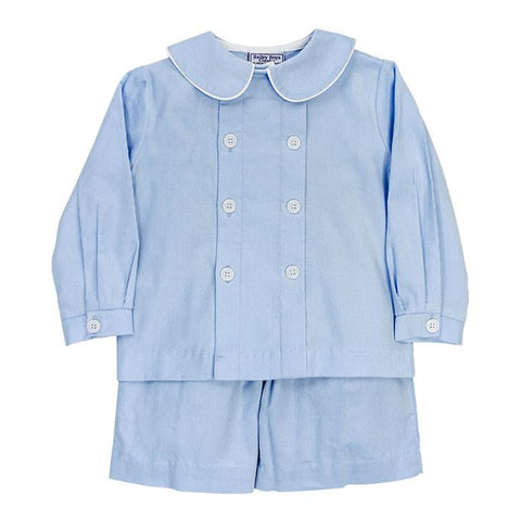 Blue Corduroy Dressy Shorts Set by Bailey Boys