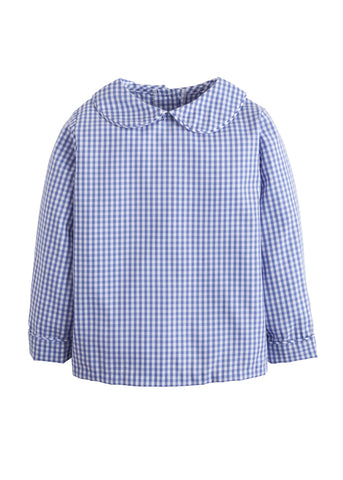 Royal Gingham Peter Pan Shirt Little English