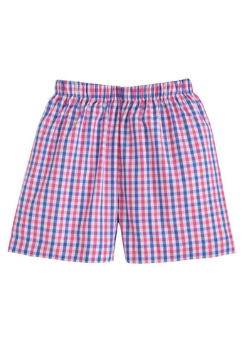 Bar Harbor Gingham Basic Shorts Little English