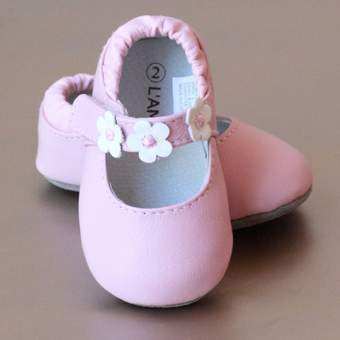 3 Flower Baby Mary Jane L'Amour Shoes