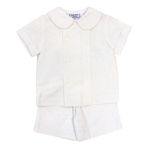 Candlelight Linen Ivory Short Set Months Bailey Boys