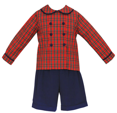 Royal Plaid Short Set Claire & Charlie