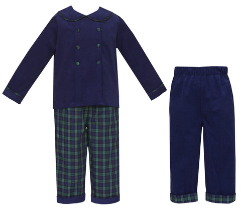 Blackwatch Plaid Pants Set Claire and Charlie