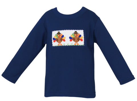 Turkey Smocked Boy Tee Anavini