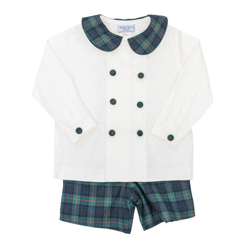 McNeill Plaid Dressy Short Set Bailey Boys