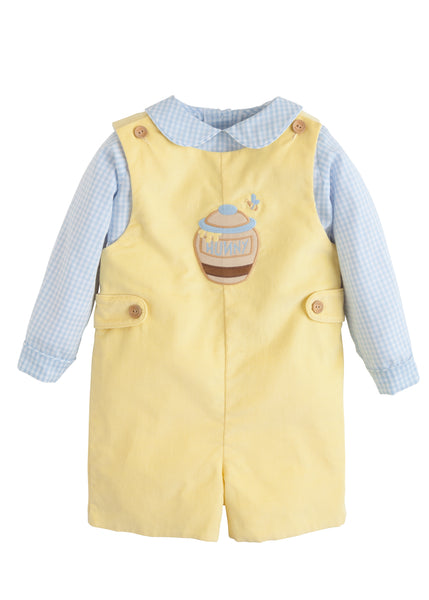 Hunny Applique John John Set Little English