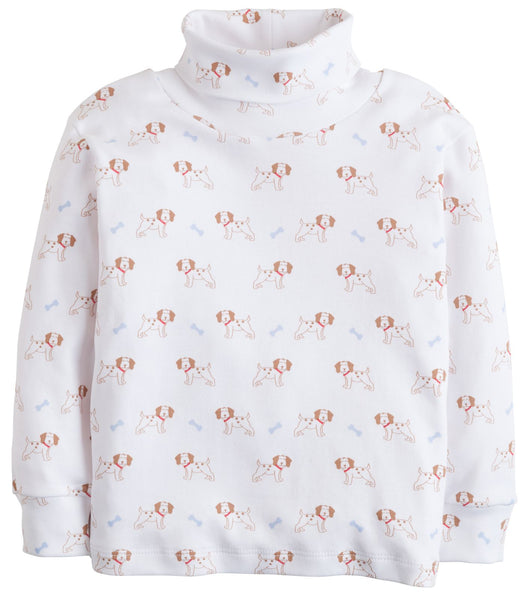 Puppy Printed Turtleneck Little English