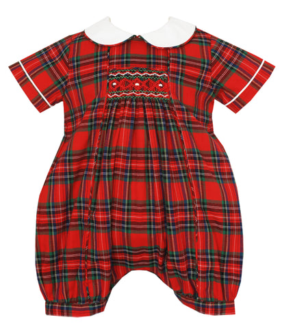 Red Plaid Boy Bubble Anavini