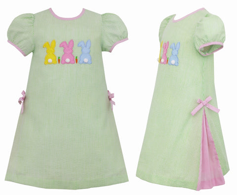 Cottontails Applique Dress Claire & Charlie