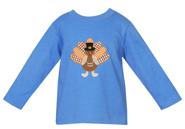 Turkey Applique L/S Tee Claire & Charlie