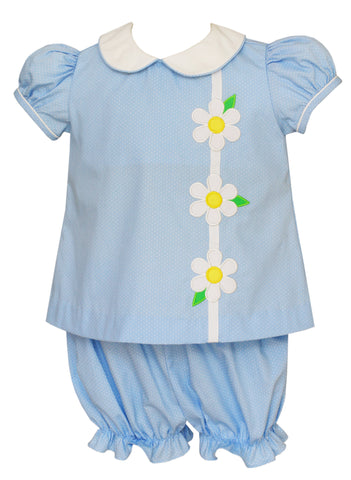 Daisies Applique Bloomer Set Claire & Charlie