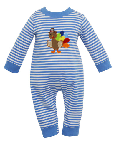 Turkey Applique Knit Romper Claire & Charlie