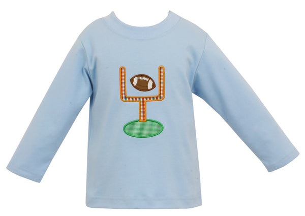 Football Applique L/S Tee Claire & Charlie