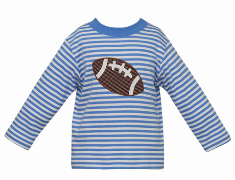 Football L/S Applique Tee Claire & Charlie