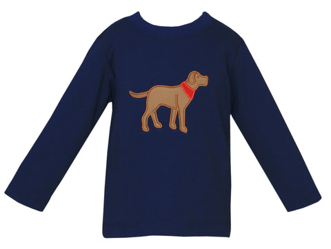 Labrador Applique Tee Claire and Charlie
