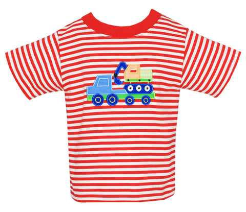 e80f074bb Tow Truck Stripe Tee Claire and Charlie