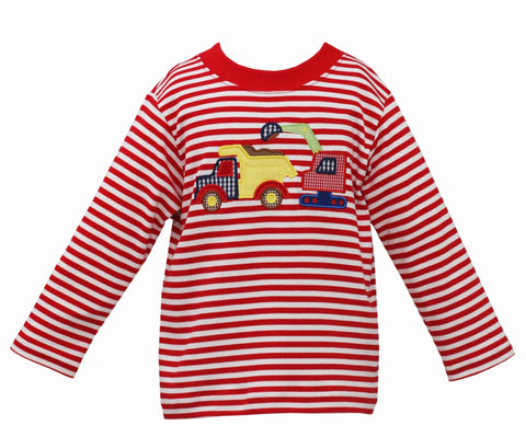 Construction Trucks L/S Tee Claire & Charlie