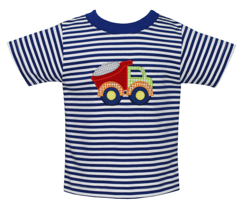 Dump Truck Applique S/S Tee Claire and Charlie