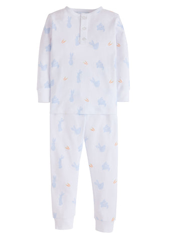 Bunny Printed Blue Jammies Little English