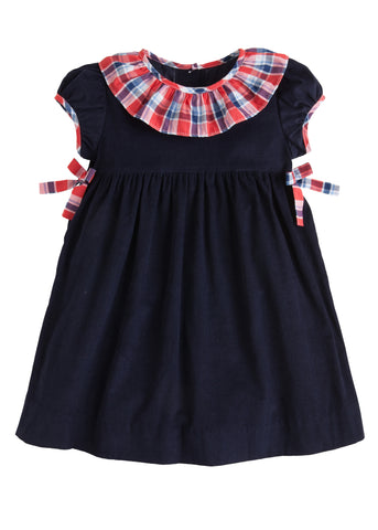 Frierson Plaid Bow Bow Dress Little English
