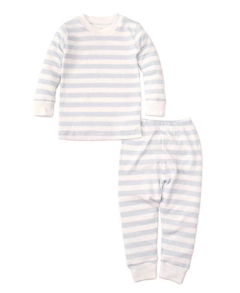 Blue Broad Stripes 2pc Pjs Months Kissy Kissy