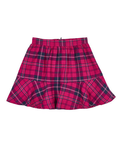 Bow Ties Fuchsia Plaid Skirt Florence Eiseman