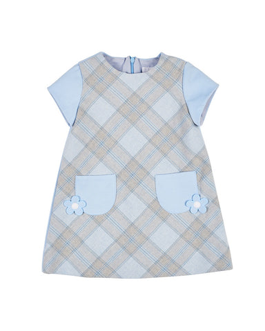 Blue Plaid Ponte Dress Florence Eiseman