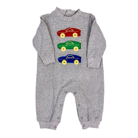 Race Car Knit Romper Bailey Boys