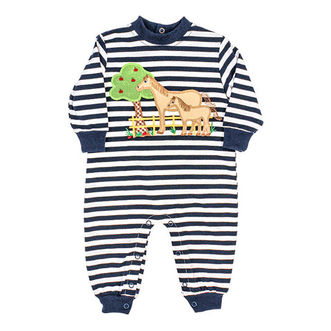 Horse Knit Romper Bailey Boys