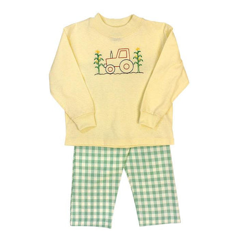 Tractor w/Corn Stitch Pant Set The Bailey Boys