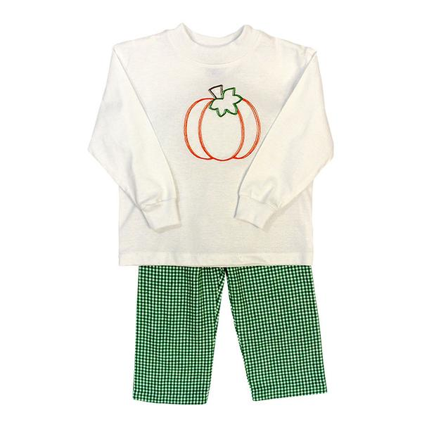 Pumpkin Stitch Boy's Pant Set The Bailey Boys