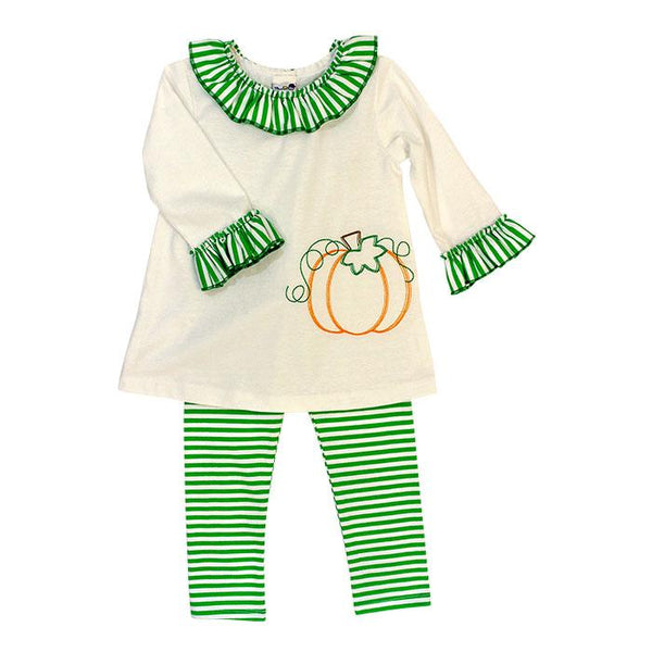 Pumpkin Stitch Tunic Set The Bailey Boys
