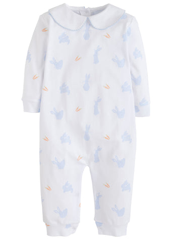 Bunny Printed Blue Playsuit Little English