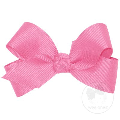 Tiny Grosgrain Bow w/Knot Wee Ones Bows