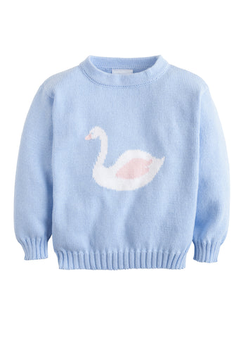 Swan Intarsia Sweater Little English